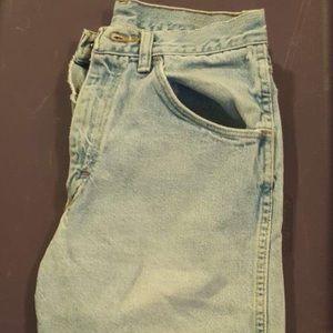 Wrangler men's light wash jean shorts